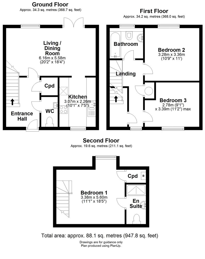 Floor plan Bunbury Terrace, All Saints Road, Newmarket